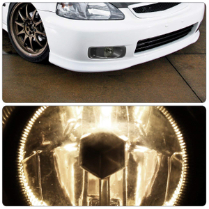Smoked Lens Front Driving Fog Lamp Fog Lights For Honda Civic 99-00