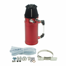 Universal Aluminum Polished Oil Reservoir Catch Tank Racing Car Oil Catch Can With Breather Filter